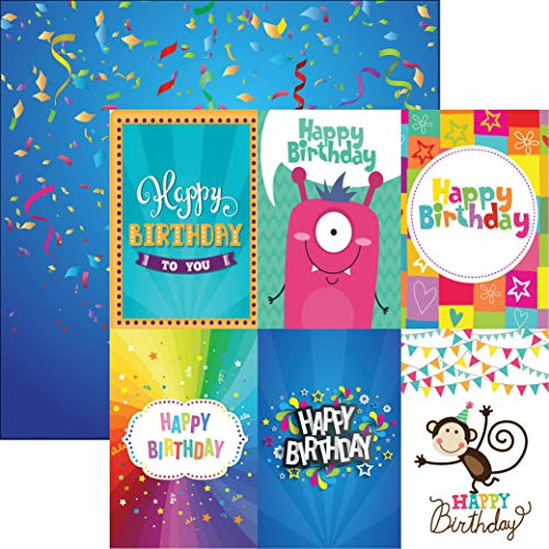 Reminisce BASH-003 Bday BASH Papier, 30,5 cm, Geburtstag Bonanza, Einheitsgröße