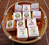 Regalos Bombones de Navidad Personalizados - 50 Bombones de Chocolate Personalizados con Dos Cestos - Un Perfecto Regalo Para Amigos y Familiares