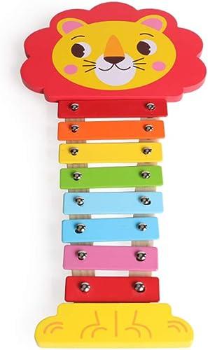 60% de descuento HXGL-Tocar el piano Juguete Juguete Juguete De Madera De Dibujos Animados para Niños Cabeza De León Octava Golpe Piano (Color   rojo)  disfruta ahorrando 30-50% de descuento