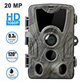 SUGERYY 20MP Hunting Trail Camera HD 1080P 36LED Wildlife Scouting Cam Night Vision