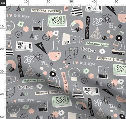 Wissenschaft, Reagenzgläser, Mikroskop, Magnet, Neuronen, Stoffe - Individuell Bedruckt von Spoonflower - Design von Amel24 Gedruckt auf Bio Baumwoll Interlock-Jersey