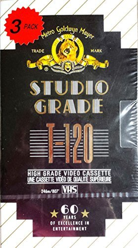 Great Deal! MGM Studio Grade T-120 High Grade Video Cassette – Pack of 3