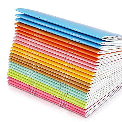 Shuny 10 Stück 12.5x 9cm Mini Notizbuch, Klein Notizblock, Liniertes Notizbuch JournalTagebuch Memo, Notepad, Schulhefte 8 Candy Farbe, Tragbares Papier, Notizbuch Reisetagebuch