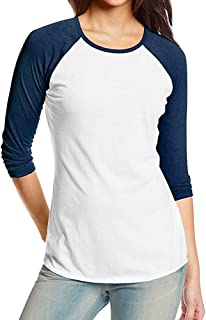 Kinlene Camiseta Personalizada Mujer,2018 Nuevo Blusas para Mujer,Tops Largas de Béisbol de Moda, Mujer Corto Manga Moda Tops Bloquear Raya Camiseta Casual Blusa