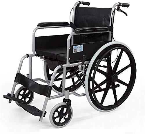 N/Z Mobiliario para el hogar Silla de Ruedas Transporte Ligero Silla de Ruedas Plegable Silla de Viaje portátil Scooter para discapacitados para Ancianos Cochecito Manual Aseo