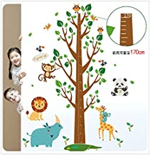 Oren Empower Height Chart Jungle Theme Wall Sticker for Kids Room (Pack of 2)