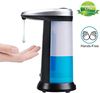 ONINAA Soap Dispenser, Touchless Automatic Soap Dispenser, Infrared Motion Sensor Stainless Steel Dish Liquid Hands-Free Auto Hand Soap Dispenser, Upgraded Waterproof Base