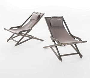 Christopher Knight Home Northland Outdoor Wood and Canvas Sling Chair (Set of 2) (Grey)