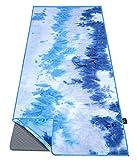 Ewedoos Yoga Towel with Anchor Fit Corners, Non Slip Yoga Towel, 100% Microfiber, Super Soft, Sweat Absorbent,...