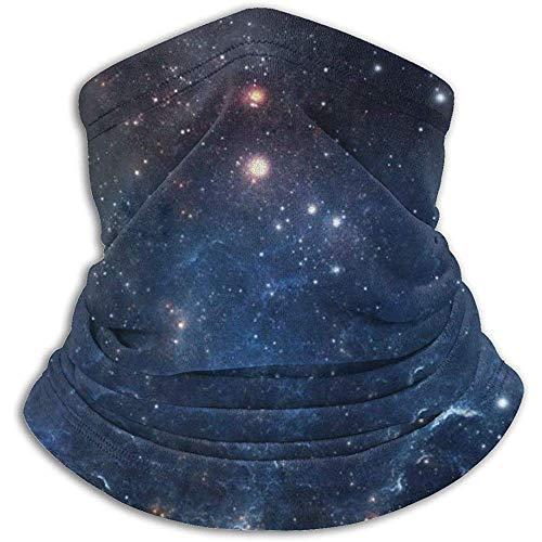 Linger In Blue Galaxy Starry Neck Gaiter Face Mask Bandana Seamless Headband Ski Riding Running