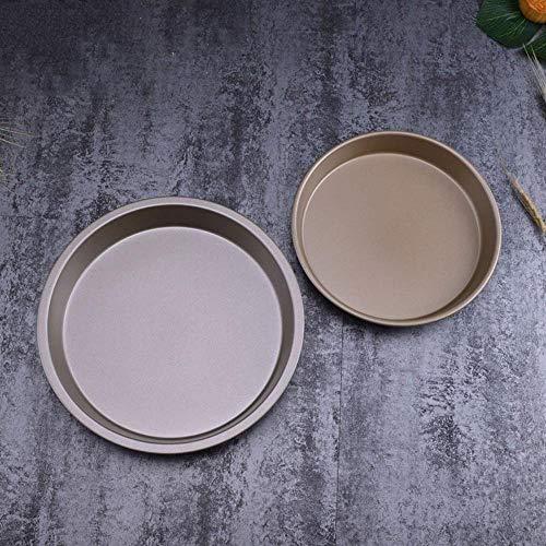 8 Zoll 9 Zoll tief Antihaft- Backform Stahl kreisförmige Öffnung Pizzateig Pfanne ca. 3 cm hohe Backform PIZZA