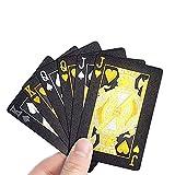 JOOTUEPO Cartas de juego de póquer negro, baraja de diamantes brillantes de alta definición,...