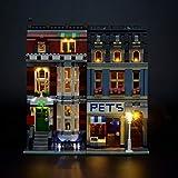 LIGHTAILING Conjunto de Luces (Creator Tienda De Mascotas) Modelo de Construcción de Bloques - Kit de luz LED Compatible con Lego 10218(NO Incluido en el Modelo)