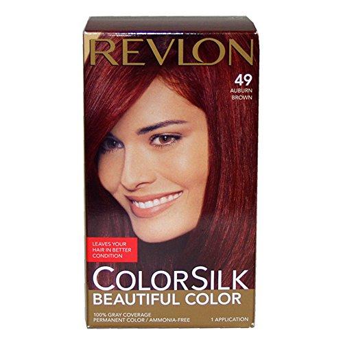 Revlon Colorsilk Beautiful Color, Auburn Brown 49
