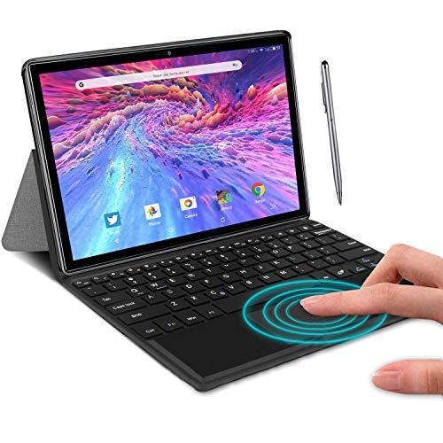 Tablet Ocho Núcleos 4G Android 9.0 DUODUOGO A39+ Tablet 10.1 Pulgadas 4GB RAM 64GB ROM/128GB Escalables 8000mAh Doble 4G SIM/Cámara Tablet PC 2.3GHz Asistente de Voz de Google GMS Netfilx (Plata)