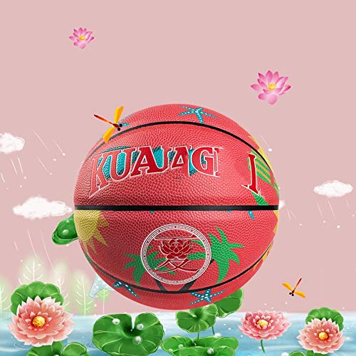 Review SSLLPPAA Wear Resistant Basketball Indoor and Outdoor Basketball No.7 Basketball in Spring an...