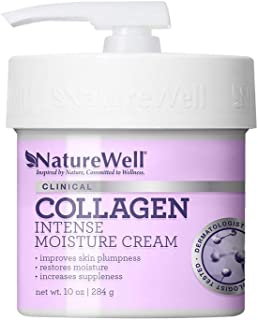 NatureWell Collagen Intense Moisturizing Cream for Face & Body, 10 oz. | Clinical | Increases Suppleness & Improves Skin P...