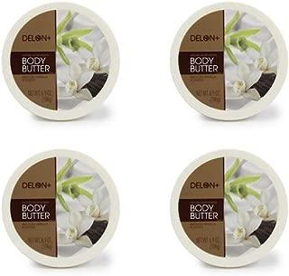 DELON Intense Moisturizing Smooth Vanilla Body Butter 6.9 Oz (4-pack)