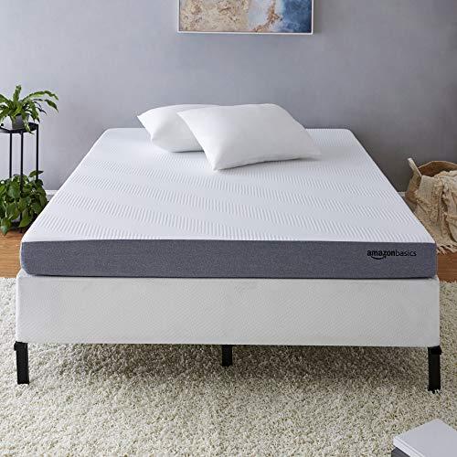 AmazonBasics Ventilated Cooling Gel Memory Foam Mattress - Firm Feel - 5 inch, Cal King