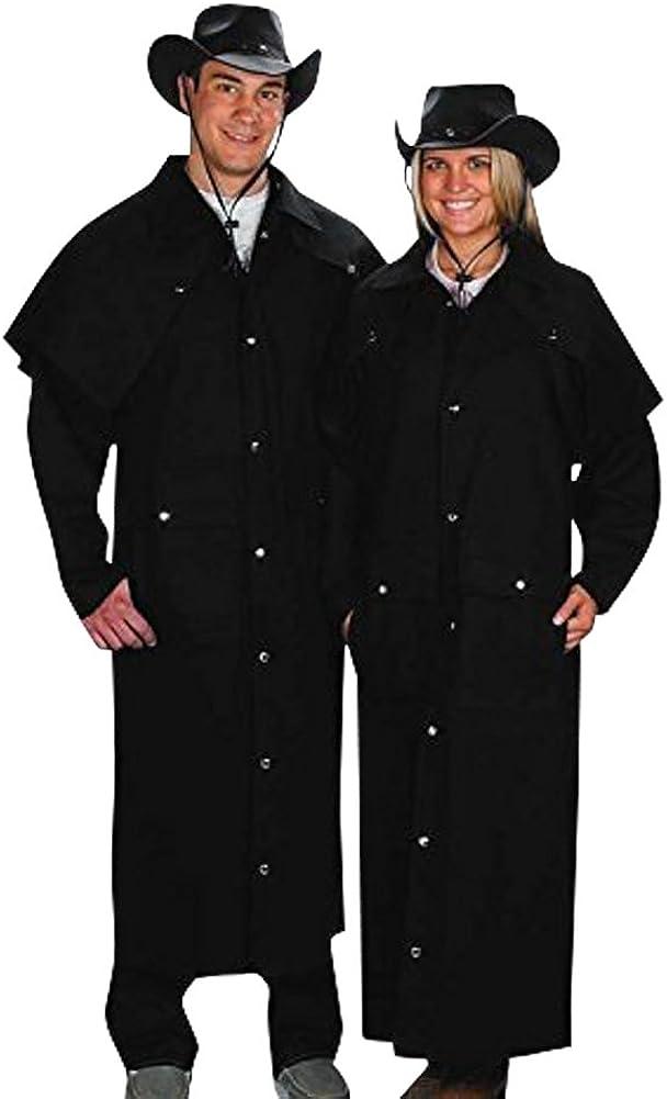 Sunrise Outlet Adult Black Denim Duster Western Jacket-Me Cotton Max Limited time sale 51% OFF