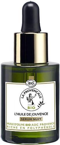La Provençale – L'Huile de Jouvence Sérum Nuit – Soin Visage Certifié Bio – Huile d'Olive Bio AOC Provence – Pour Tou...