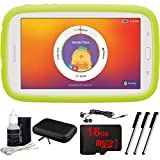 Samsung Kids Tab E Lite 7.0-inch 8GB Wi-Fi, White Bundle with 16GB Memory Card, Cleaning Kit, 3 Stylus Pens, in-Ear Headphone and Hardshell Case