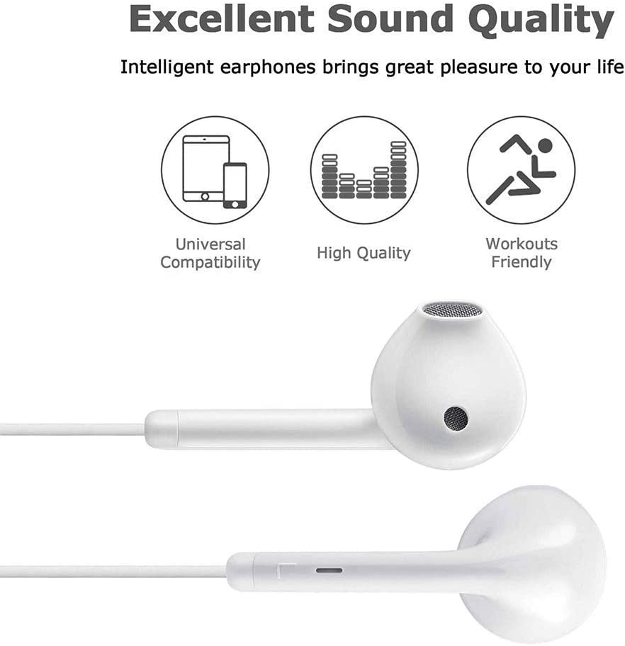 Lighting Connector Earbuds Earphone Wired Headphones Headset with Mic and Volume Control,Isolation Noise,Compatible with Apple iPhone 12 Pro