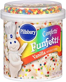 Pillsbury Confetti Funfetti Vanilla Flavored Frosting (Pack of 2)