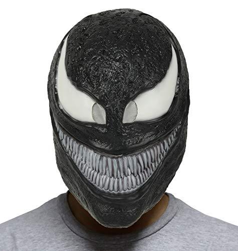 CosplayRim Venom Maske Helm Kostüm Zubehör für Erwachsene (Dicker Latex) - - Einheitsgröße