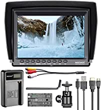 Neewer F100 7-inch 1280x800 IPS Screen Camera Field Monitor Kit: Support 4k Input with 2600mAh Rechargeable Li-ion Battery Pack, USB Battery Charger for DSLR Camera/Camcorder