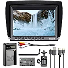 KIT INCLUDES: (1) F100 Monitor,(1) NP-F550 USB Battery Charger,(1) NP-F550 2600mAh Rechargeable Li-ion Battery Pack; NOTE: Camera, Stabilizer, and other support equipment are NOT included HIGH RESOLUTION: Wide View Angle IPS panel with LED Backlight,...