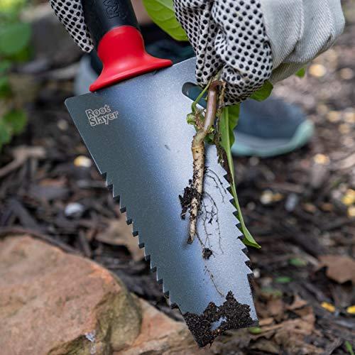 Radius Garden 16011 Root Slayer, Trowel, Red