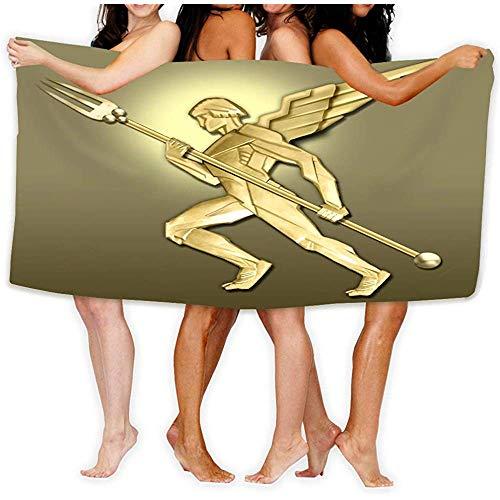 Zome Lag Super Absorbent Beach Handdoek Zee Oppervlak Yoga Polyester Velvet Beach Handdoeken 80X130CM Golden Art Deco Angel w Vork Positief
