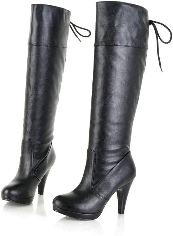 GONGFF High-Heeled Platform Boots High-Heeled Women's Boots