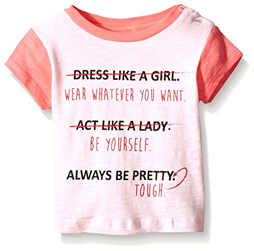 Rosie Pope Little Girls Be Yourself Tee, Rose, 12 Months