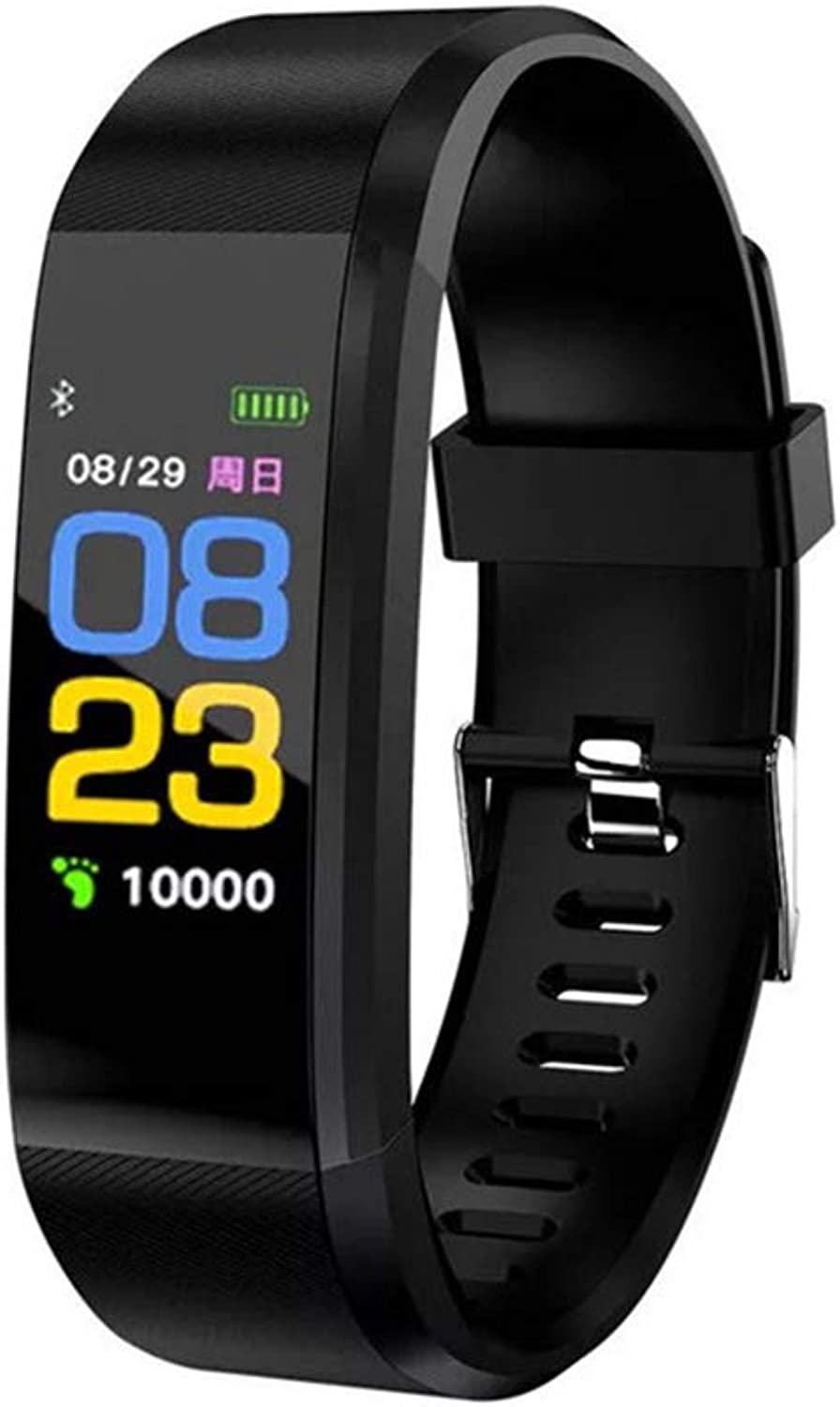 Fitness Tracker  Heart Rate Monitor Smart Bracelet with Pedometer Sleep Monitor Step Calorie Call SMS Reminder, MultiFunction for Android, Apple, etc.