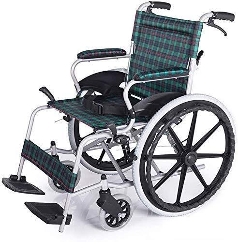 YISUNF Wheelchairs Leisure Wheelchair Lightweight Folding Ergonomic Aluminum Attendant Propelled Wheelchairs for Elderly Comfortable Armrest Backs