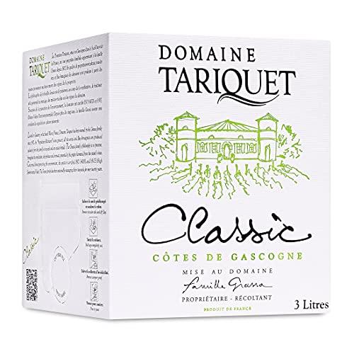 Vin blanc Classic trocken - Côtes de Gascogne IGP - Domaine Tariquet - Bag-in-Box (1x 3L)