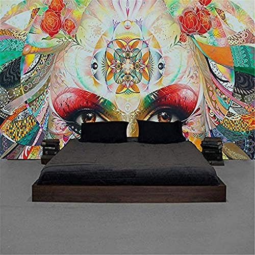 XHXI 3D Art Mural Wallpaper Custom 3D Mural European Beautiful Hand Painted Beautiful Background Wall Painting Vintage W 3D Wallpaper Paste Living Room The Wall for Bedroom Mural border-150cm×105cm