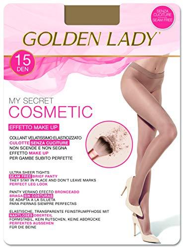 Goldenlady Mysecret 15 Cosmetic Medias, 15 DEN, Transparente (Melon 001a), Large (Talla del fabricante: 4-L) para Mujer