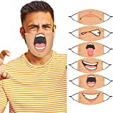 LINTONG Par De Divertidas Expresiones De Parodia Facial Impresas FαCe PañUelo