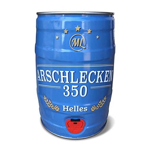 5 Liter Partyfass Party-Keg Original Sepp Bumsingers Arschlecken 350 Helles (1)