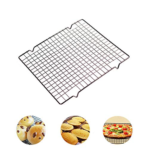 """Nonstick Metal Cake Cooling Rack Sheet Rust Proof Rack Grid Net Baking Tools Thick Wire Grid 10""""x11"""""""