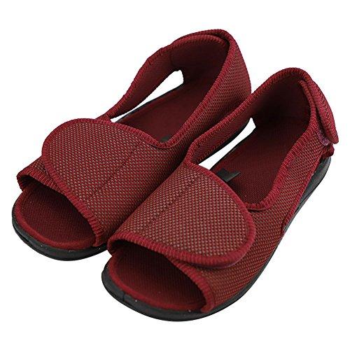 BAOBAO Mens Extra Extra Wide Slippers Sandals for Diabetic Arthritis Edema Hallux Valgus
