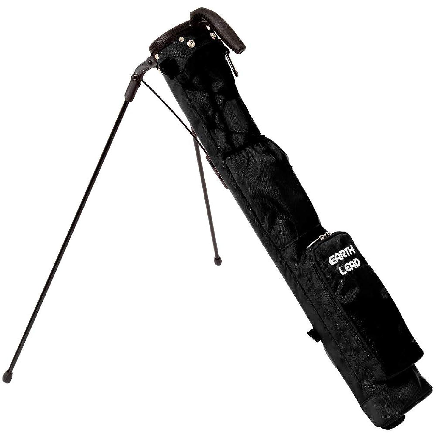やがて激しい北西【EARTH LEAD】ゴルフ クラブケース セルフスタンド クラブ ケース フード&大型ポケット付き 超軽量 低重心 安定感抜群