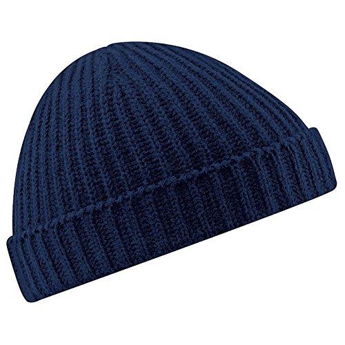Beechfield nouveau bonnet en tricot unisexe rétro style pêcheur - Bleu - Taille Unique