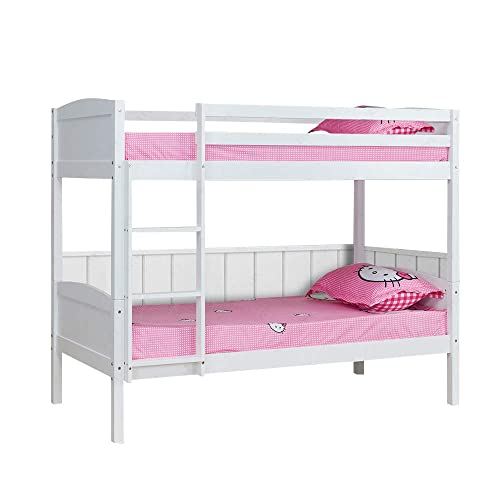 White Bunk Beds With Mattresses Amazon Co Uk