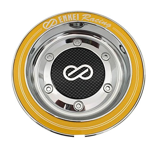 Enkei Wheels CC-074 Chrome and Yellow Center Cap