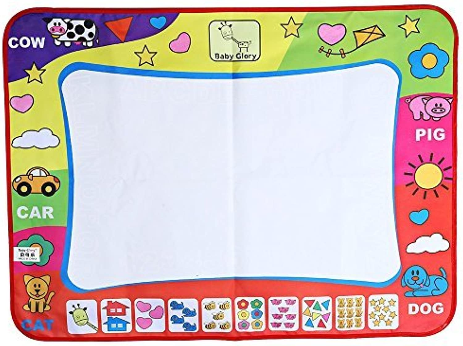 LLZZ Baby PreEducation Toys of Doodle mat 80X60CM with Magic Pen Painting Picture Water Drawing Play Drawing Board