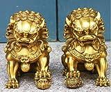 Par de estatuas de león guardián de perro malvado guardián de...